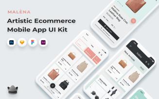 Malèna - E-commerce Mobile App UI Kit
