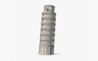 Pisa Tower PBR MidPoly 3d Model