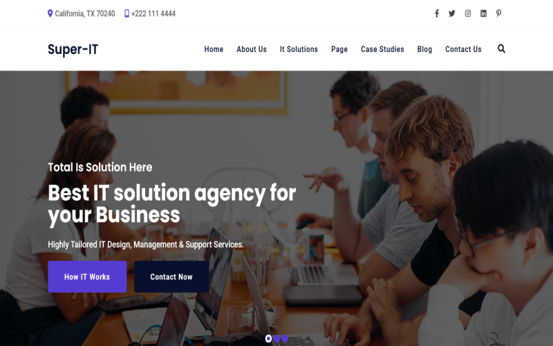 SuperIt - IT Solutions, Software, Technology & Services Company HTML Template