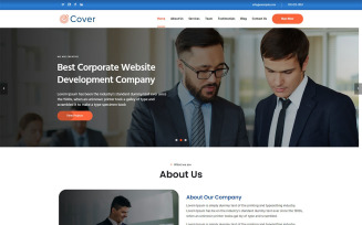 Cover Responsive HTML Landing Page Template