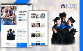 Edec Easy Education Landing Page HTML5 Template