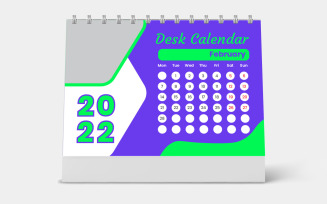 Set Desk Calendar Template 2022