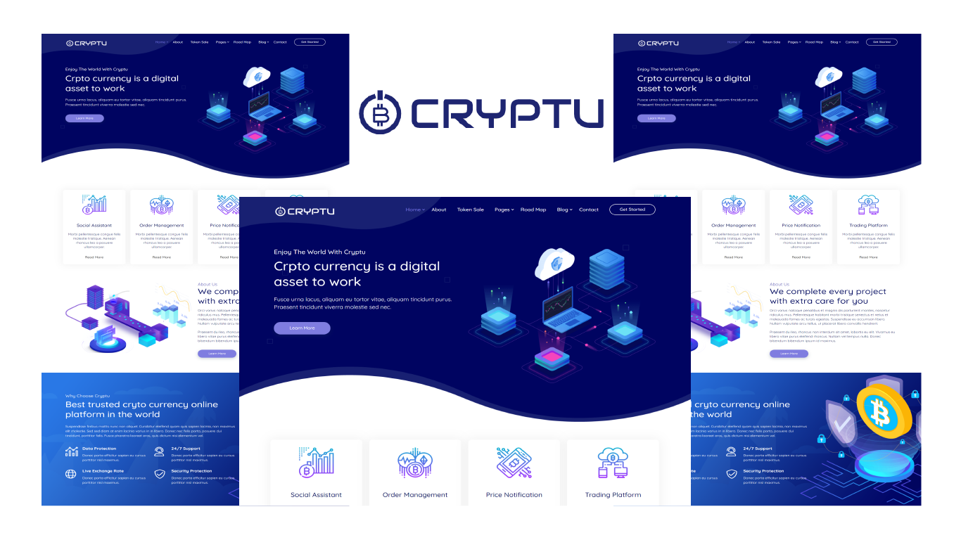 Cryptu - Cryptocurrency Bootstrap 5 HTML Template