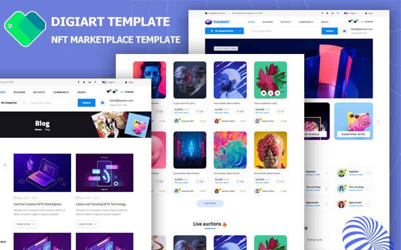 DigiArt - NFT Marketplace Website Template