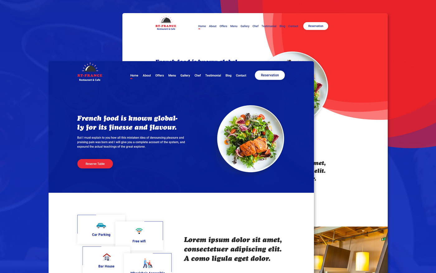 Foodench - French Cuisine Restaurant Bootstrap HTML5 Landing Page Template