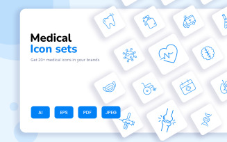 Attractive And Creative Medical Icon Set
