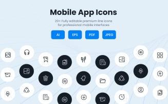 Creative Mobile App Icon Set