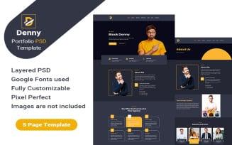 Denny – Personal Portfolio PSD Template