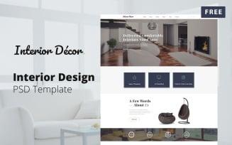 Free Interior Design PSD Template - Interior Decor