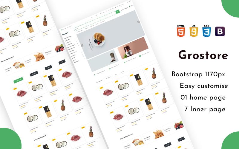 Grostore - E-handel Shop HTML5 webbplats mall
