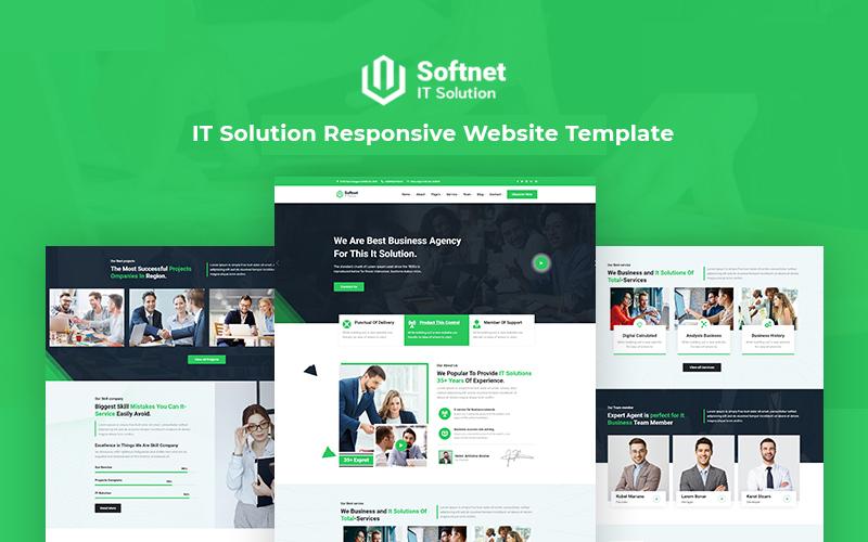 Softnet - IT-lösning och teknikmottagande webbplatsmall