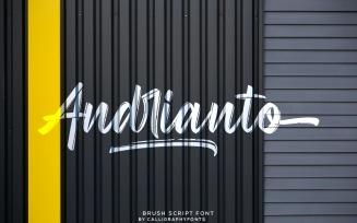 Andrianto Handmade Brush Font