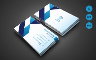 Modern Creative Geometric Style Business Card - Corporate Identity Template