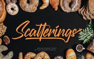 Scatterings Fresh Handmade Brush Font