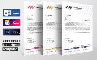 Word Apple Pages Letterhead Pad Template
