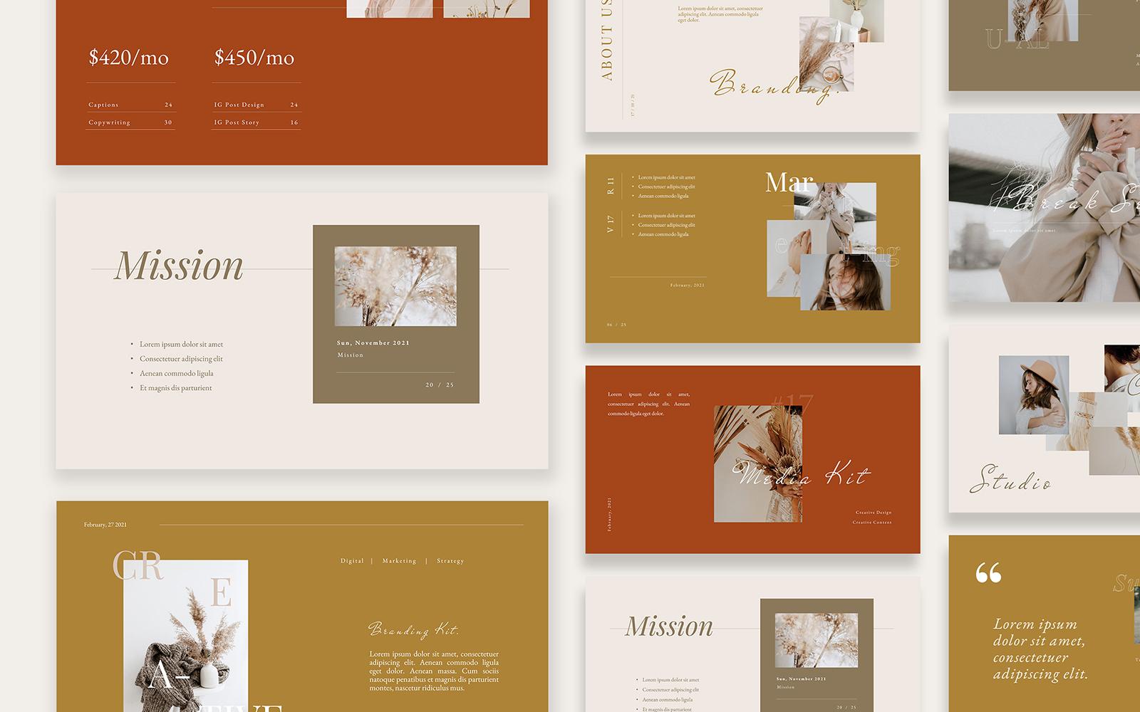 Beauty Minimalist Branding Kit Powerpoint Template