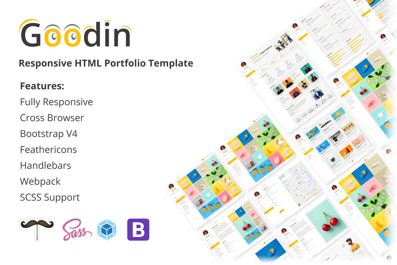 Goodin - Responsive Portfolio Handlebars and Webpack Website Template