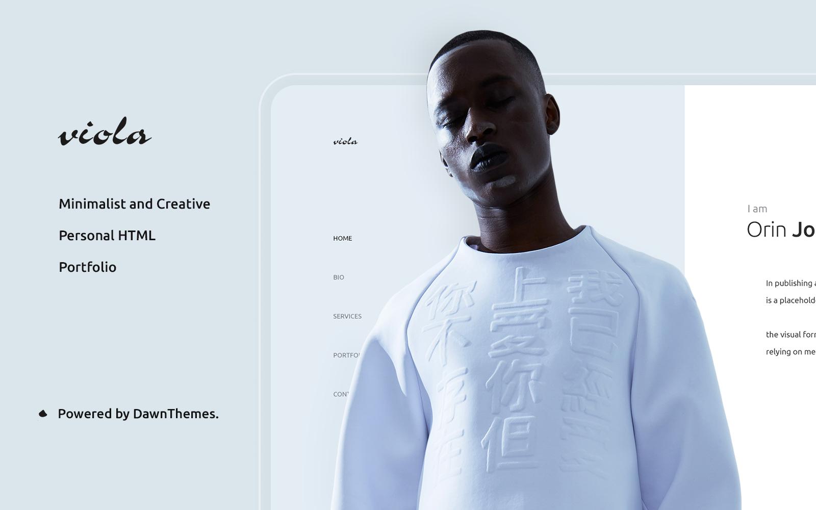 Viola | Personal, Portfolio Landing Page Template