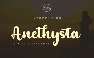 Anethysta - Bold Script Handwritten Font