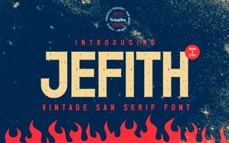 Jefith - Vintage San Serif Font