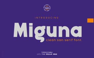 Miguna - Clean San Serif Font