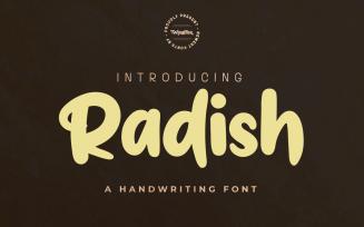 Radish - Unique Handwritten Font