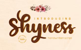 Shyness - Script Handwritten Font