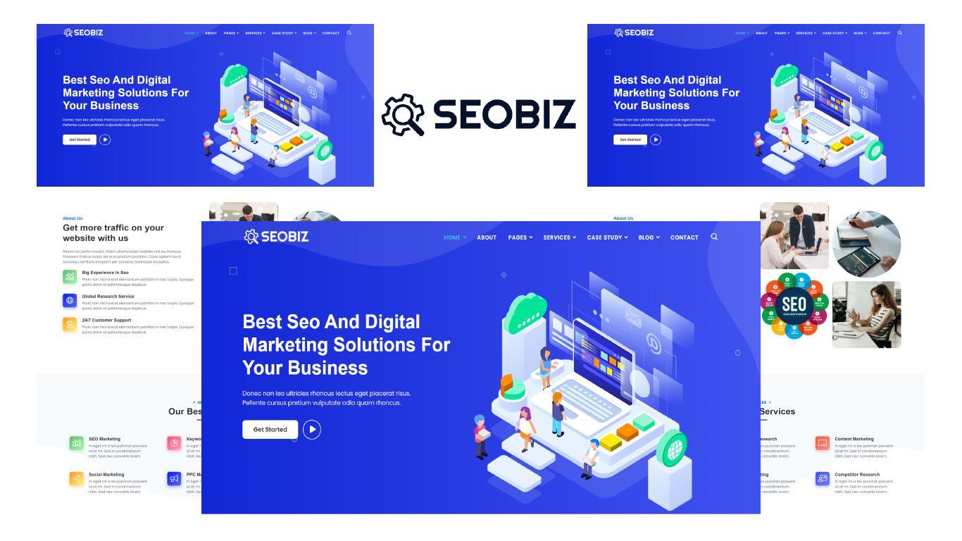 Seobiz  -  Seo & Digital Marketing Agency Bootstrap 5 HTML Template