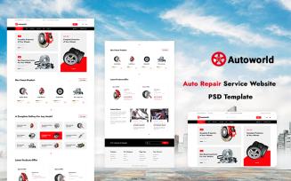 Auto Repair Service Website PSD Template