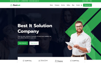 Desicat - IT Solution And Business Services Website Template