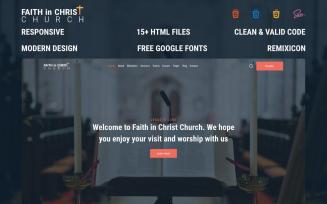 Faith in Christ Church – Free Modern Christian Church HTML Website Template