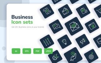 Professional Business Icon Set