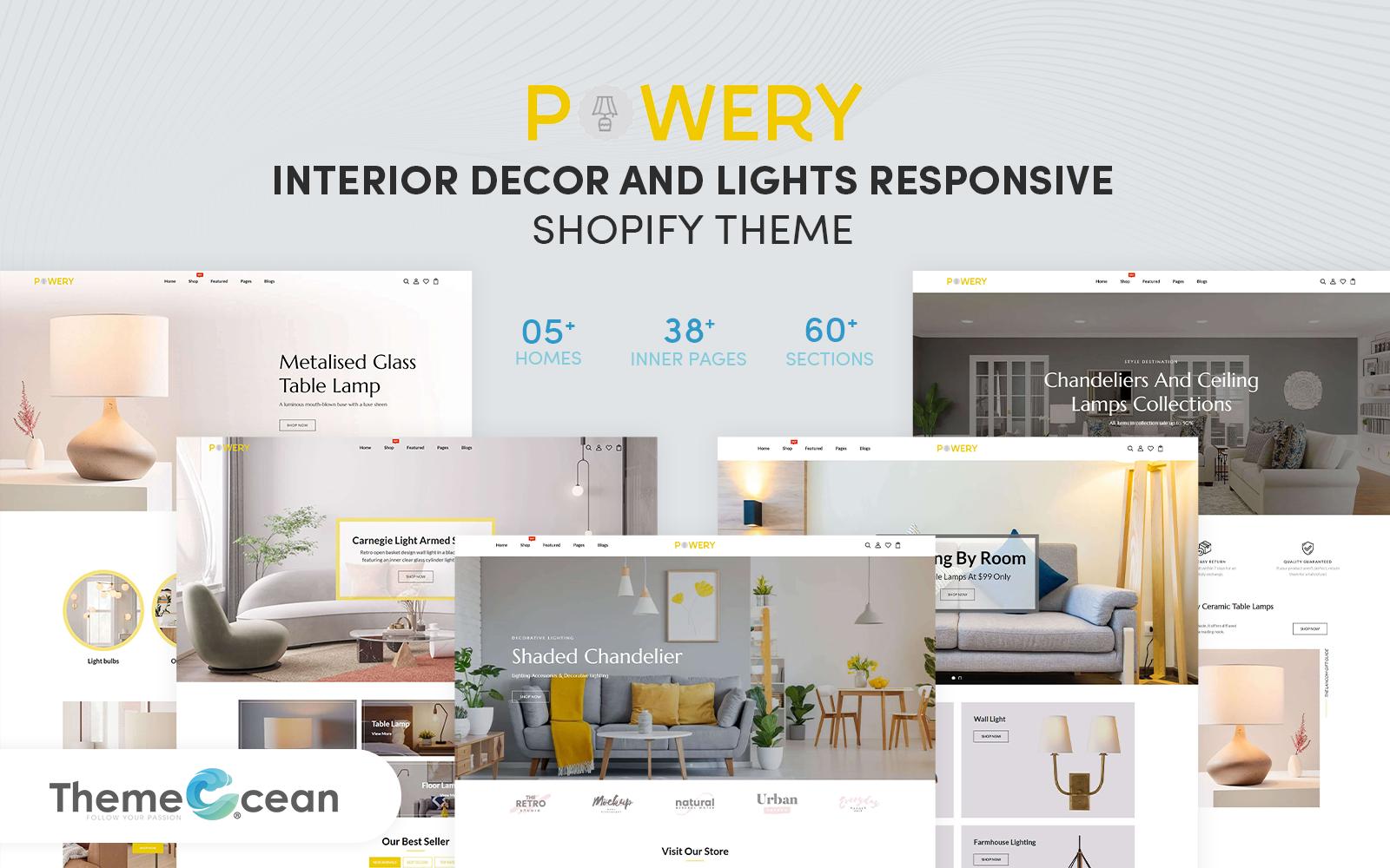 Powery - Interior Decor & Lights Responsive Shopify Theme