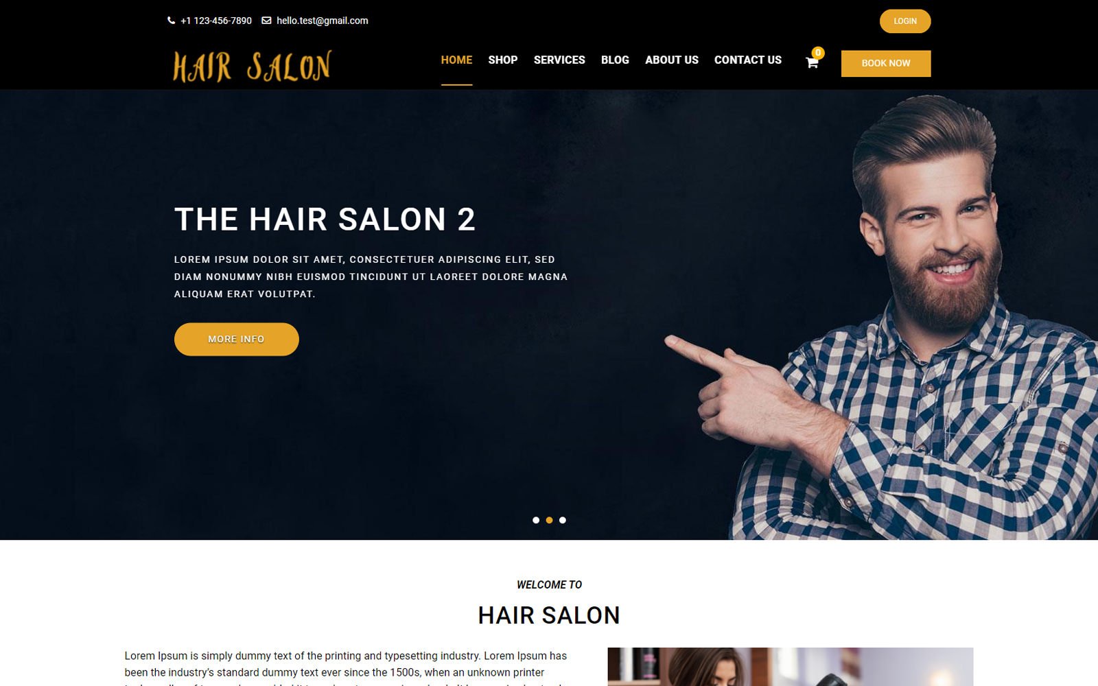 Mindz Salon WordPress Theme