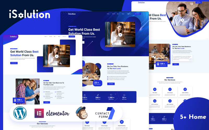 iSolution - IT Solution And Technology Services WordPress Theme