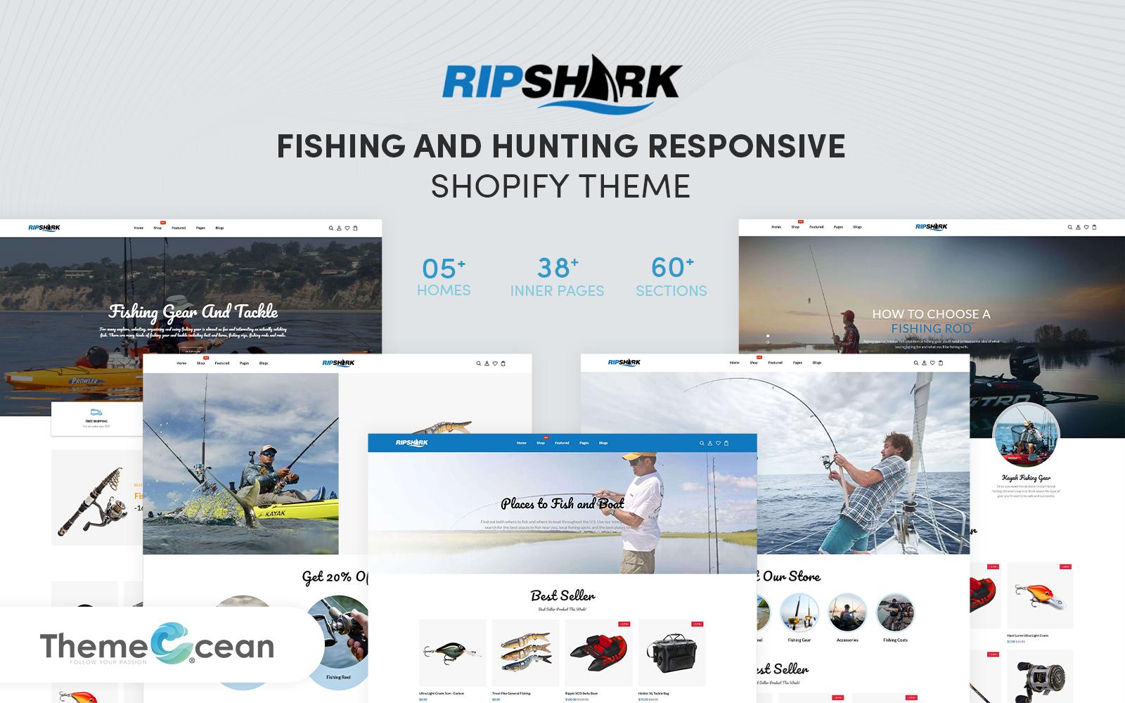 Ripshark - Fishing And Hunting Responsive Shopify Theme