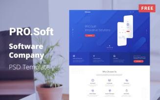 Free Software Company PSD Template - PixLab