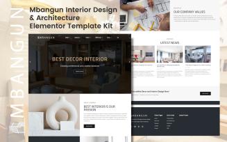 Mbangun - Interior Design & Architecture Elementor Template Kit