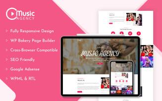 Music Agency WordPress Theme