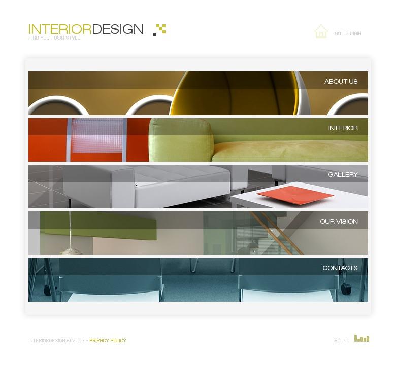 Interior Design Flash Template 19551: Interior Design Flash Template #18890