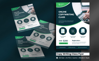 Online Copy Writing Class Flyer Corporate Identity Template