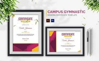 Campus Gymnastic Event Certificate