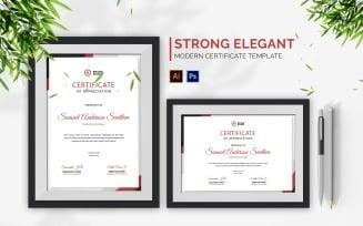Strong Elegant Certificate