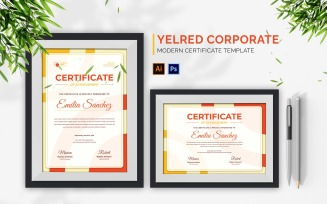 Yelred Corporate Certificate