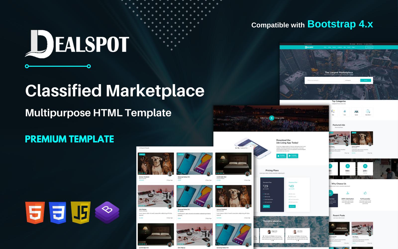 Dealspot - Classified Responsive Multipurpos HTML Marketplace Website Template
