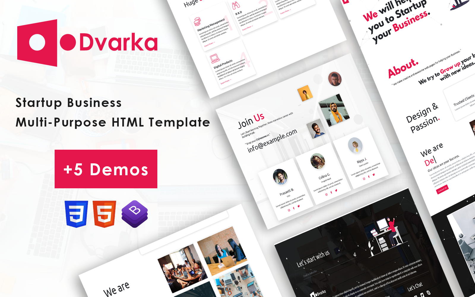 Dvarka - Startup Business One Page Bootstrap 5 Template