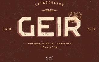 GEIR - Vintage Display Font