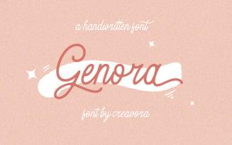 Genora - Beautiful Script Font
