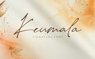 Keumala - Script Signature Font