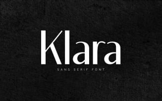 KLARA - Elegant Sans Serif Font